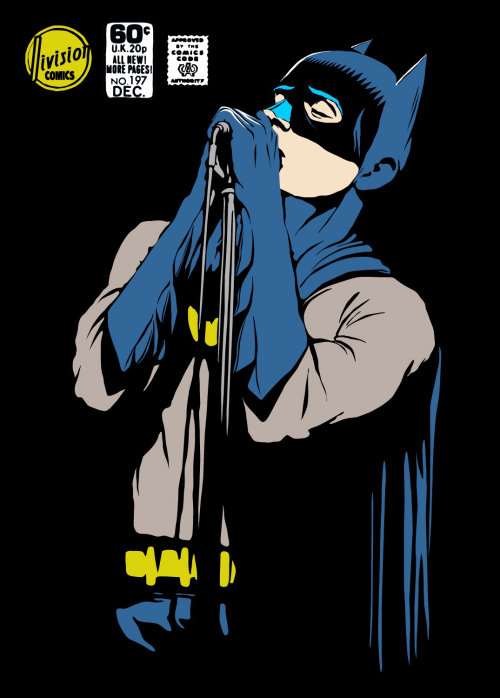 retro art of Post-Punk Dark Knight