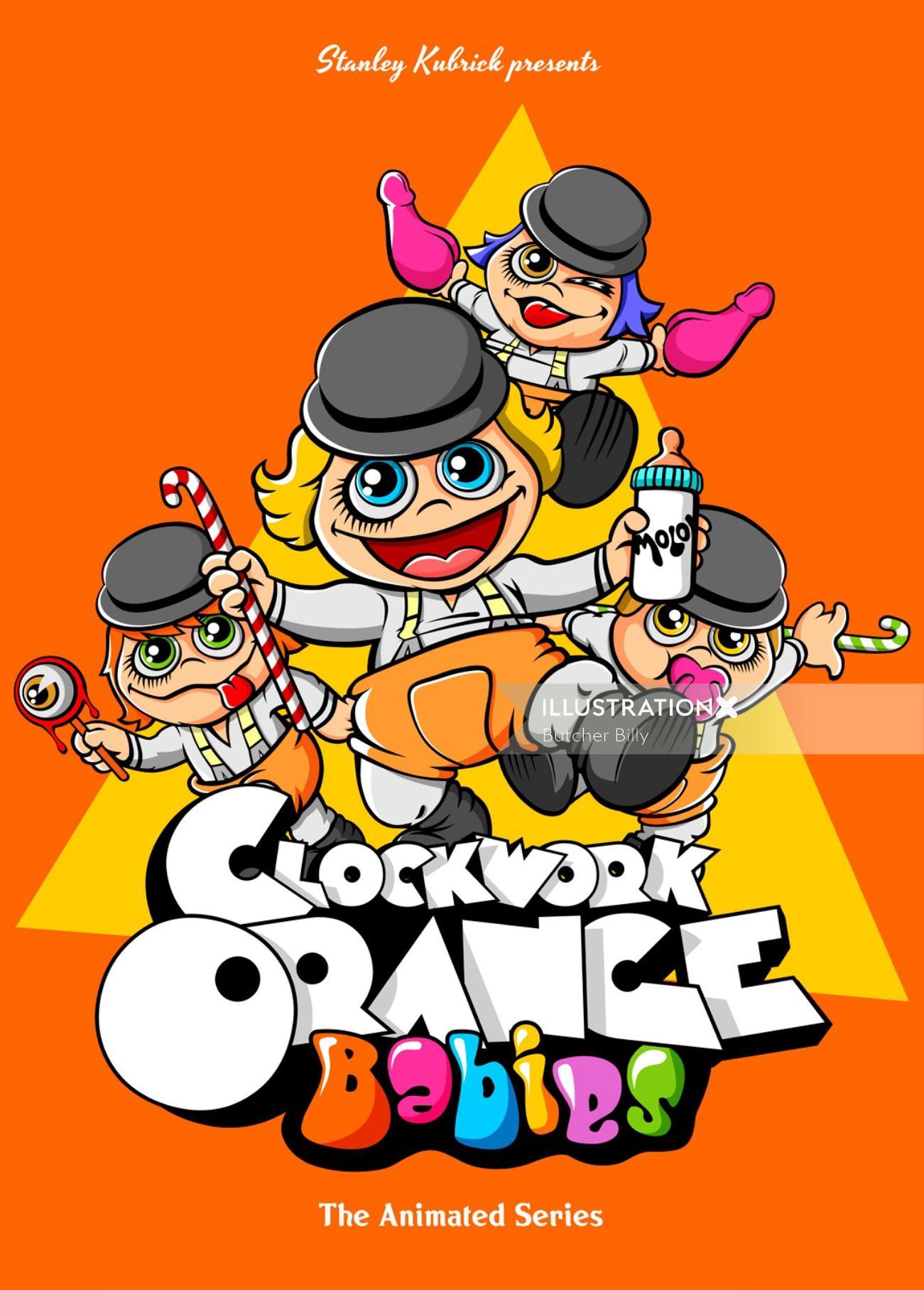 Clockwork Orange Babies Design by Butcher Billy
