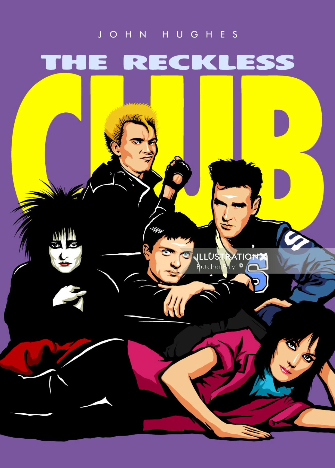 The Reckless Club Graphic Music poster