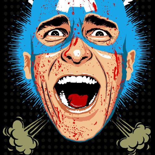Retro Illustration of American Psycho