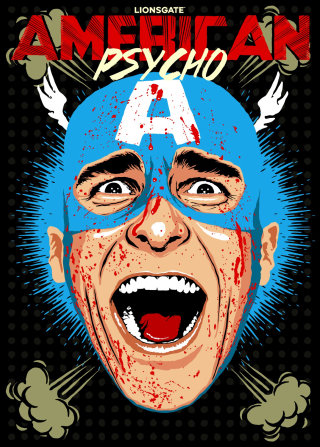Retro Illustration of American Psycho