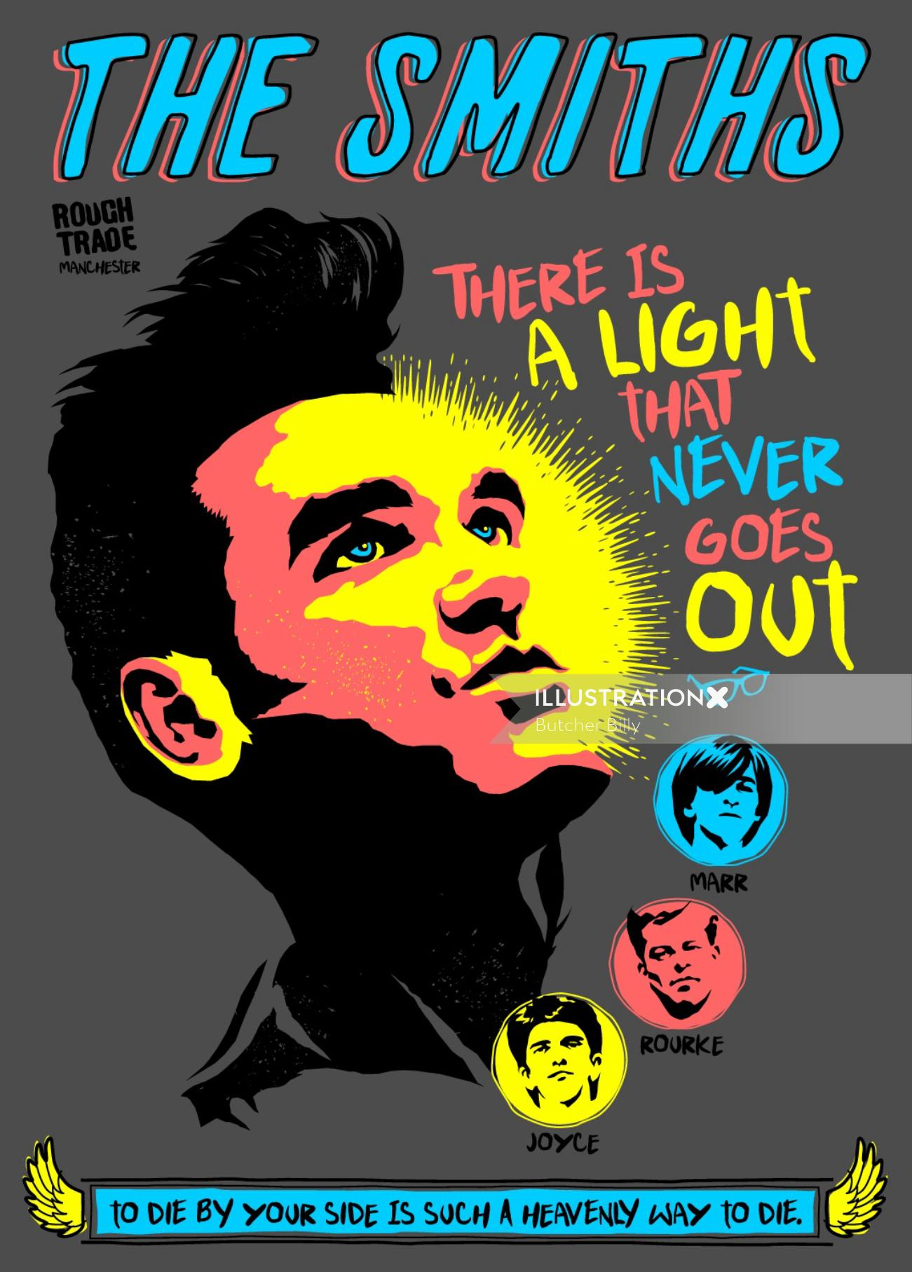 Conceptual graphic Poster art The Smiths