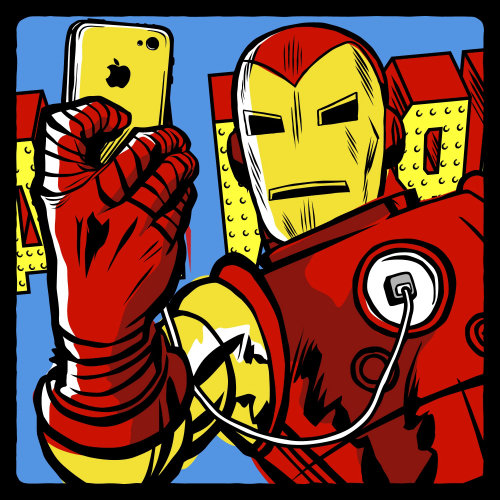 Pop Art of Iron Man: Stark Taking Selfie