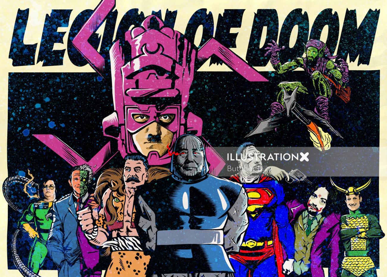 Graphic Legion of doom