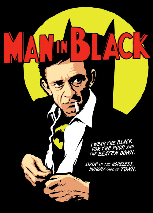 Graphic man in black