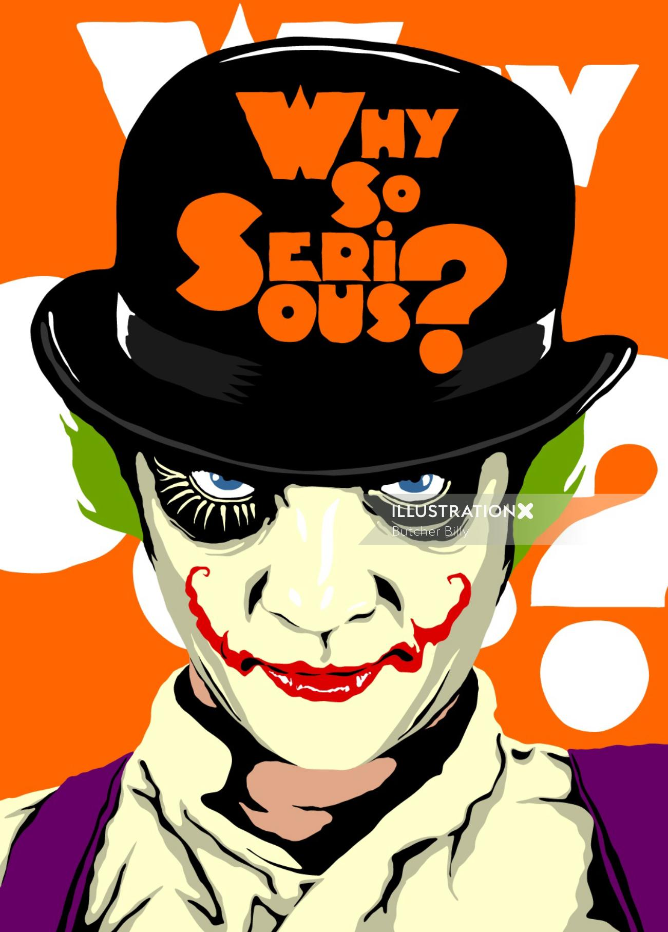 Pop Art of Clockwork Joker