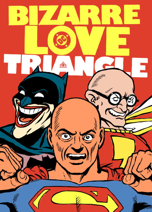 Bizarre Love Triangle retro poster