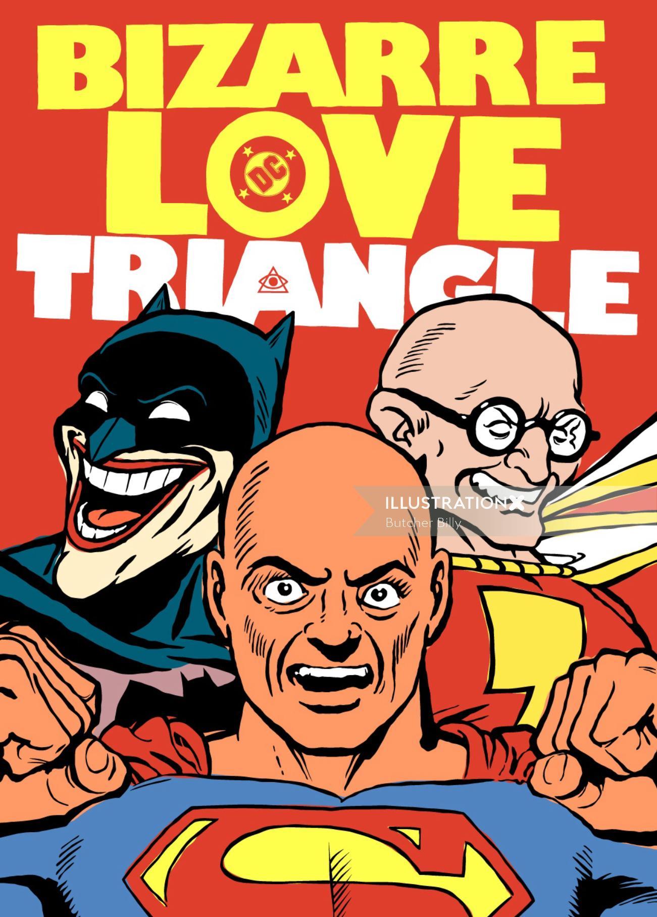 Bizarre Love Triangle retro poster
