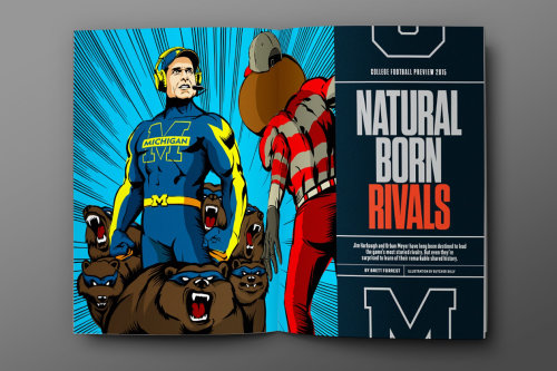 Natural born rivals super hero illustration
