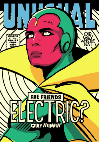 Pop culture art of Vision superhero