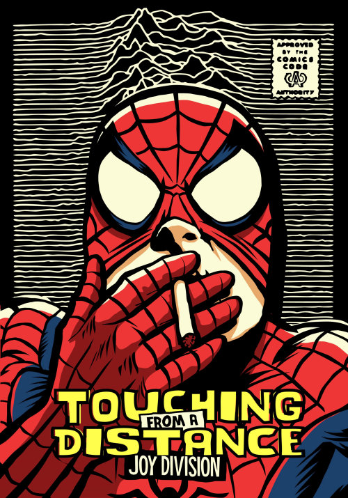 Pop culture art of smoking spider man