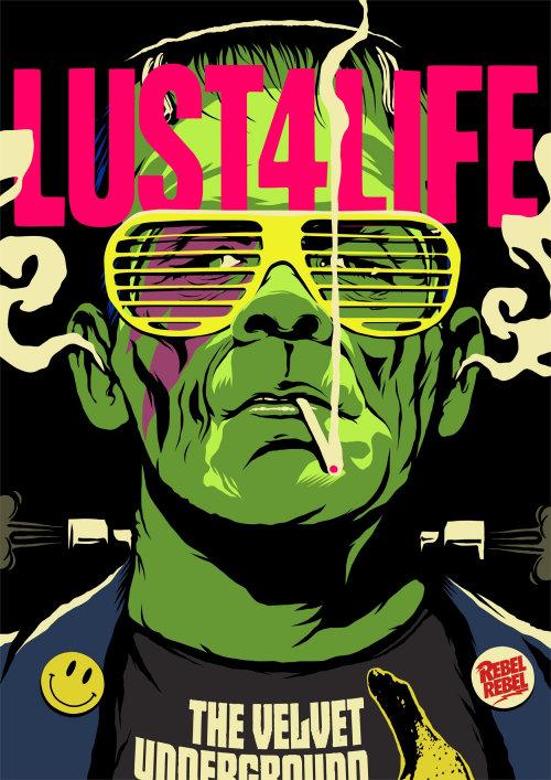 Lust 4 Life Green color man illustration