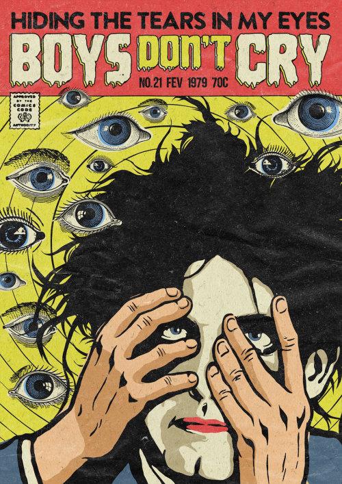 Pop illustration Boys don't cry