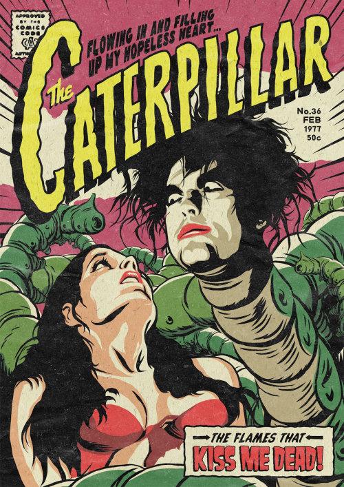 The caterpillar graphic illustration