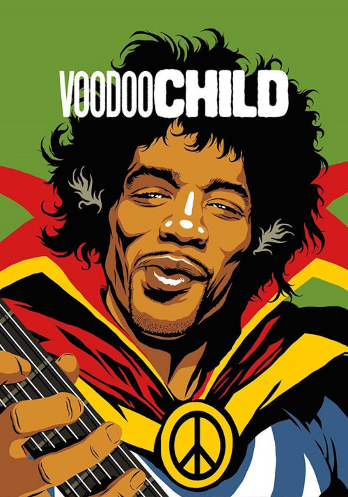 Retro art of Jimi Hendrix: Voodoo Child