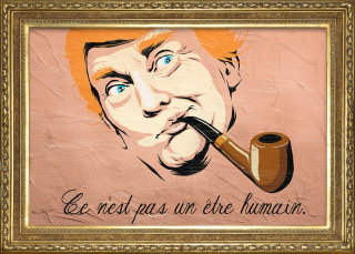 Donald Trump with smoking pipe