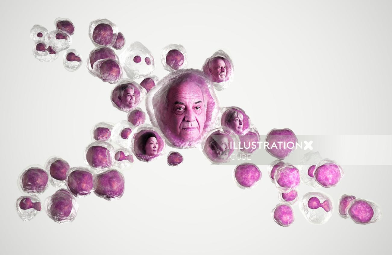 3d CGI Medical people faces