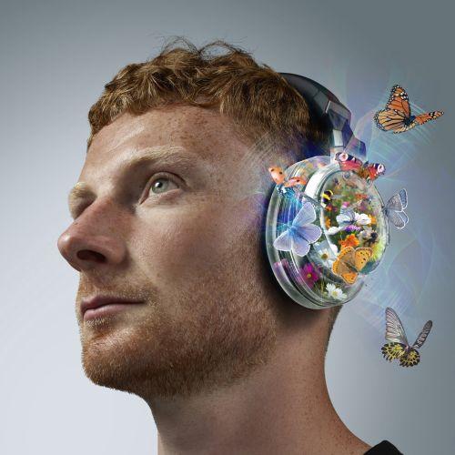 3D Retouch illustration for Audio-Technica headphones