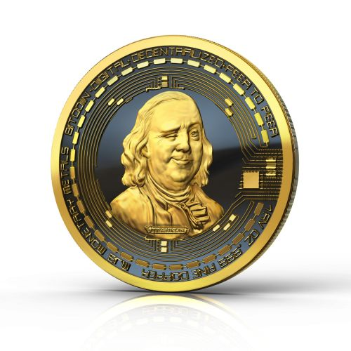 Benjamin Franklin BitCoin illustration for US magazine feature