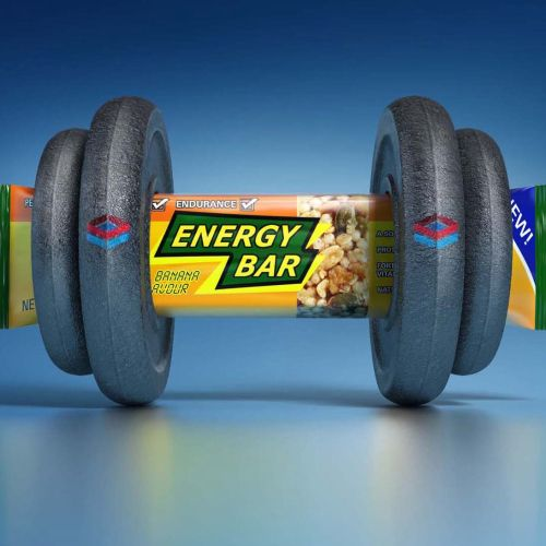 Energy bar 3D graphical illustration