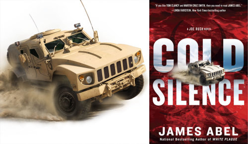 3d / cgi rendering Cold Silence Novel cover