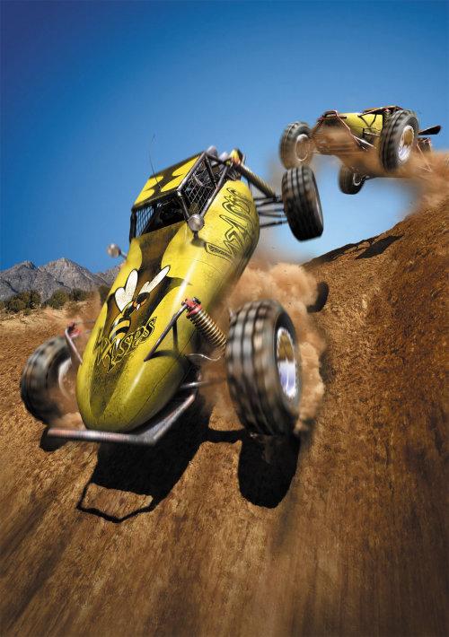 Course de voitures de rendu 3D / CGI