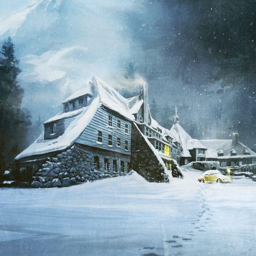 3d / cgi rendering house in snow