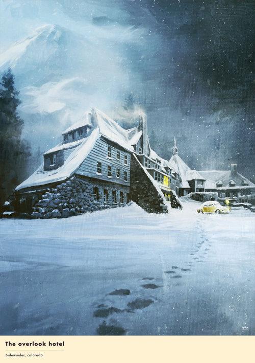 Maison de rendu 3D / cgi dans la neige