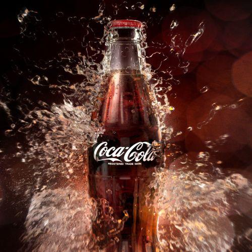 3d / cgi rendering coca cola bottle