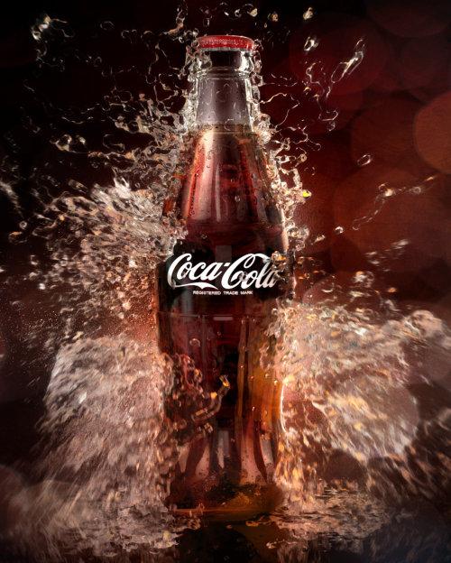 Bouteille de coca cola de rendu 3D / CGI