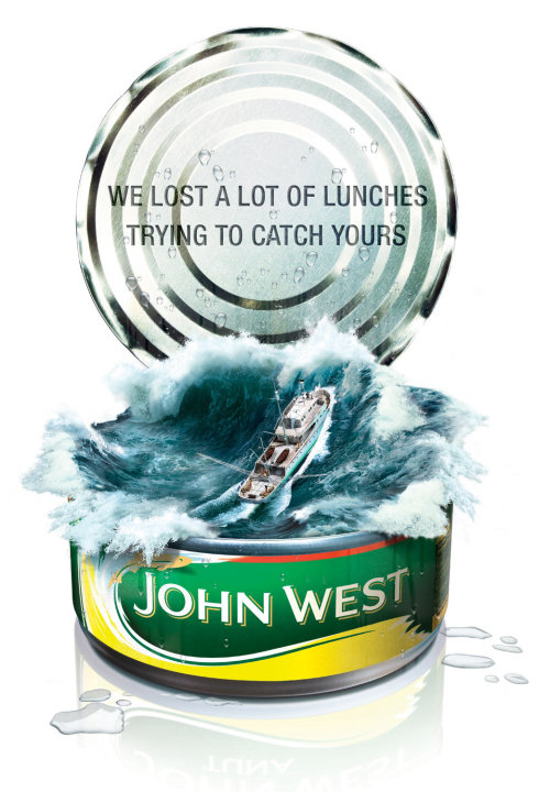 3D Poster ad for John West Tuna