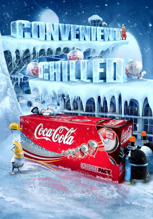Campagne conceptuelle de cocacola