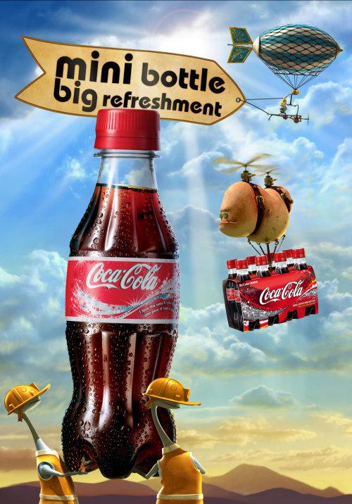 3D realistic poster for Coca-Cola