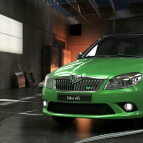 Skoda Green car animation