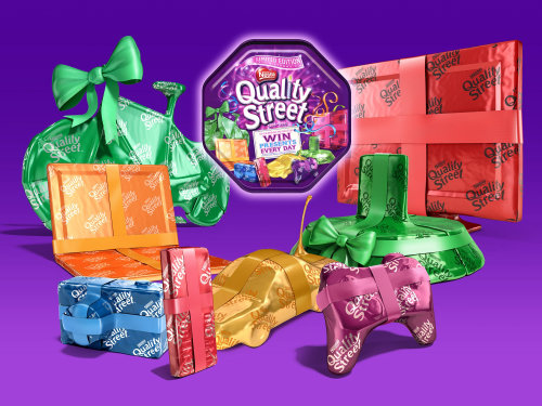 Seasonal packaging illustration for Nestle Quality Street