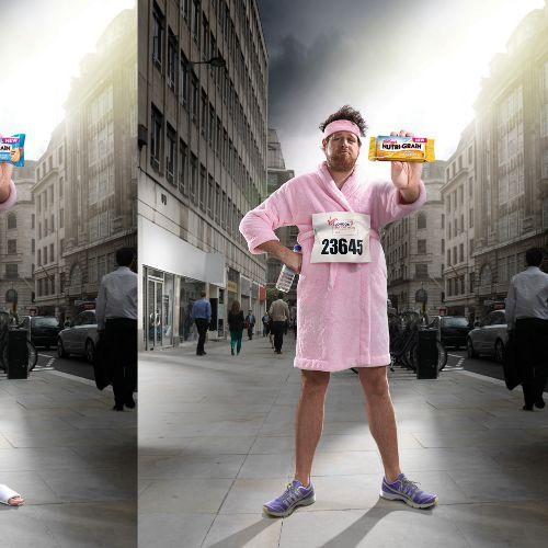 Kellogg's marathon street scene illustration