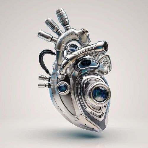 3D illustration of Heart shaped engine for Sudler & Hennessey pharmaceutical