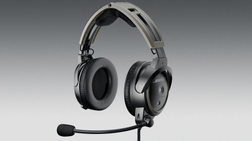 realistic BOSE A20 Aviation headset