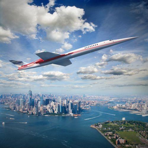 Photorealistic aeroplane flying