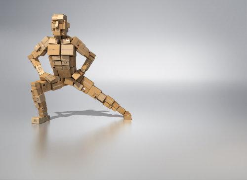 Homme de rendu 3D / cgi avec des cubes