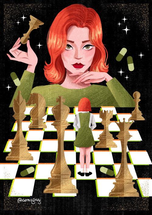 Póster de portada de The Queen's Gambit
