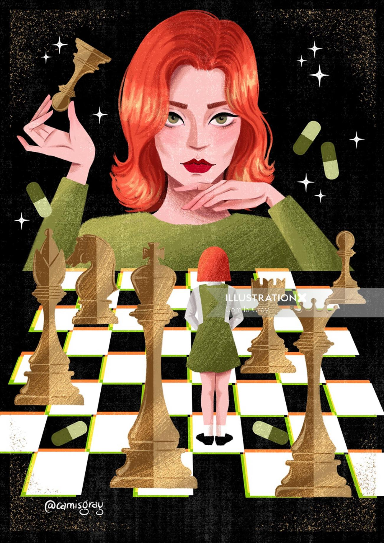 cover poster of The Queen's Gambit