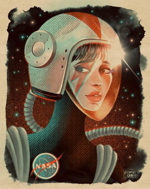 Retrato de un empleado de la NASA