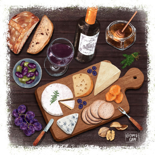 Ilustración de comida de Camilo Gray