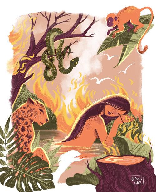 Ilustración conceptual sobre la vida salvaje
