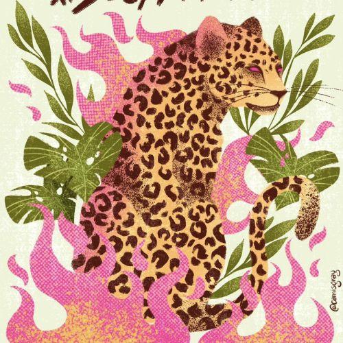 Wild animal tiger illustration
