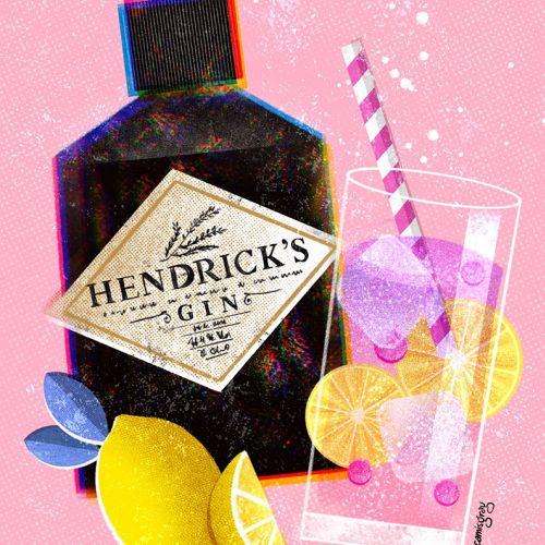 Packaging illustration of Hendrick's Gin