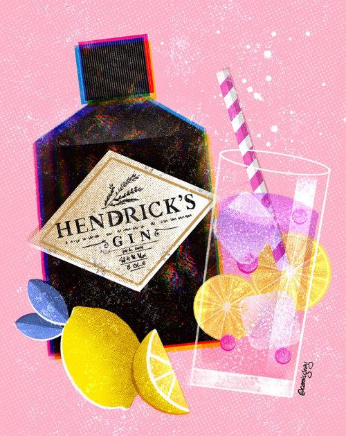 Ilustración de empaque de Hendrick's Gin