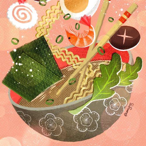 Chinese exotic food illustration