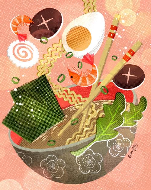 Ilustración de comida exótica china
